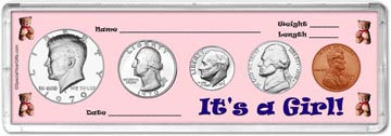 1970 It's A Girl! Coin Gift Set THUMBNAIL