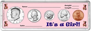 1971 It's A Girl! Coin Gift Set THUMBNAIL
