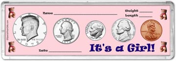 1972 It's A Girl! Coin Gift Set THUMBNAIL