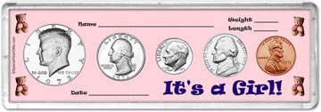 1973 It's A Girl! Coin Gift Set THUMBNAIL