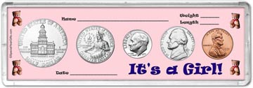 1975 It's A Girl! Coin Gift Set THUMBNAIL