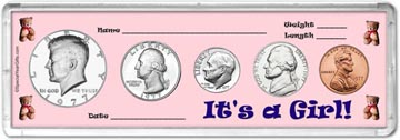 1977 It's A Girl! Coin Gift Set THUMBNAIL