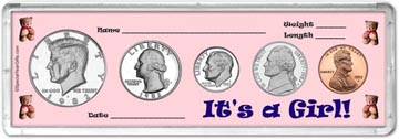 1982 It's A Girl! Coin Gift Set THUMBNAIL