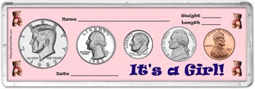 1983 It's A Girl! Coin Gift Set THUMBNAIL