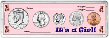 1985 It's A Girl! Coin Gift Set THUMBNAIL