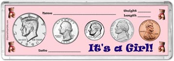 1990 It's A Girl! Coin Gift Set THUMBNAIL
