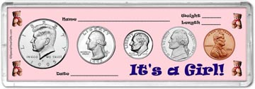 1995 It's A Girl! Coin Gift Set THUMBNAIL