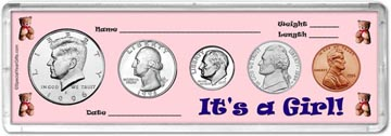1996 It's A Girl! Coin Gift Set THUMBNAIL
