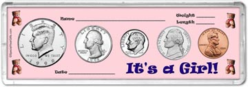 1998 It's A Girl! Coin Gift Set THUMBNAIL