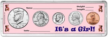 1999 It's A Girl! Coin Gift Set THUMBNAIL