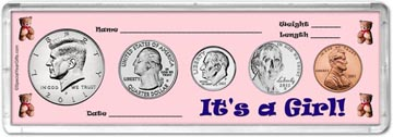 2011 It's A Girl! Coin Gift Set THUMBNAIL