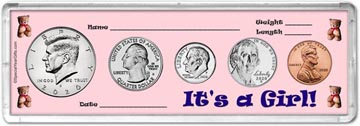 It's A Girl! Coin Gift Set THUMBNAIL