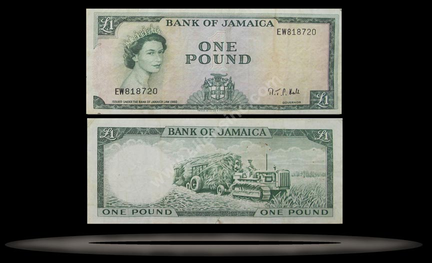 Jamaica Banknote, 10 Shillings, L.1960 (1964), P#51Be