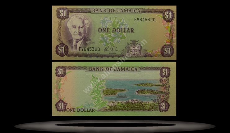 Jamaica Banknote, 1 Dollar, ND (1982-86), P#64a