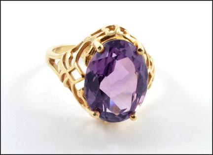 Amethyst Ring in 14K Yellow Gold