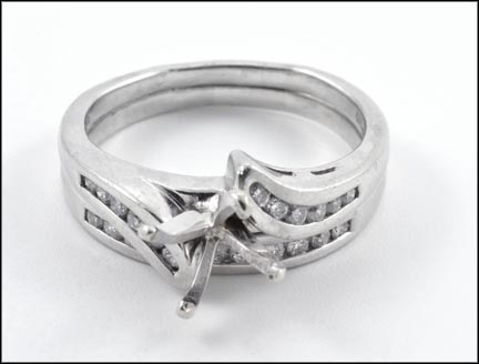 Wedding Set without Center Stone in Platinum