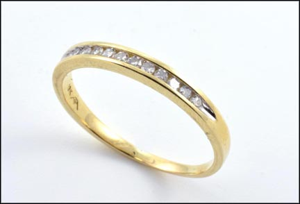 Diamond Band in 10K Yellow Gold