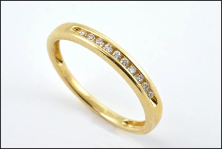 Diamond Band Ring in 14K Yellow Gold