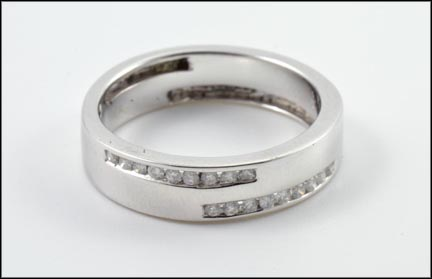 Multi Diamond Band in 14K White Gold