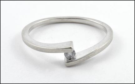 Diamond Ring in 10K White Gold