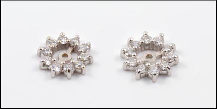 Multi Diamond Earring Jackets in 14K White Gold