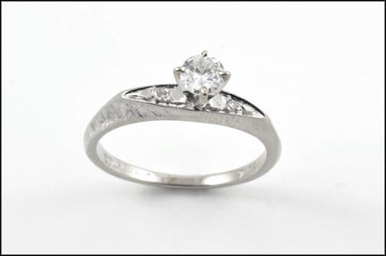Diamond Ring with Diamond Accents in 14K White Gold_LARGE