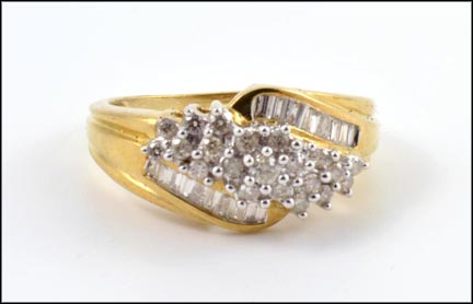 Multi Diamond Ring in 10K Yellow Gold