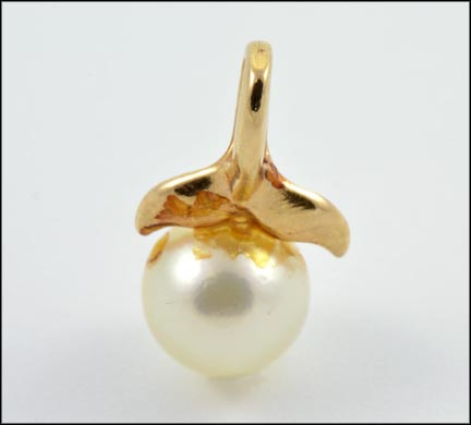 6 mm Pearl Pendant in 14K Yellow Gold