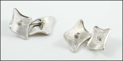 Men's Cufflinks in 18K White Gold
