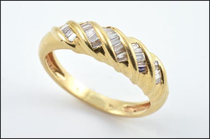 Baguette Band in 14K Yellow Gold