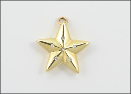 Hammerset Star Earrings in 14K Yellow Gold