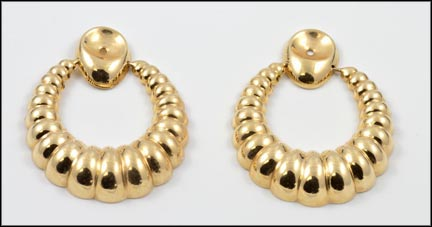Hoop Earring Enhancers in 14K Yellow Gold_LARGE