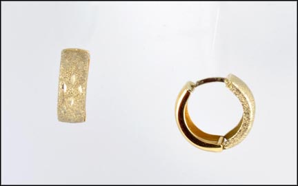 Engraved Hoop Earrings in 14K Yellow Gold