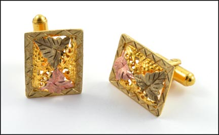 Black Hills Cufflinks in 10K Black Hills Gold