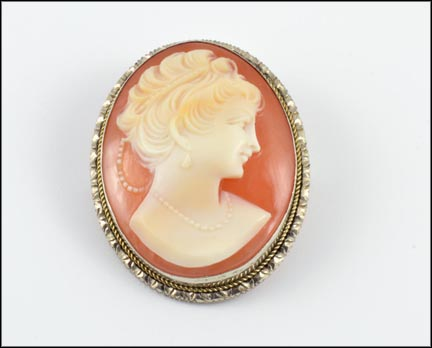 Cameo Brooch or Pendant in .800 Fine Silver