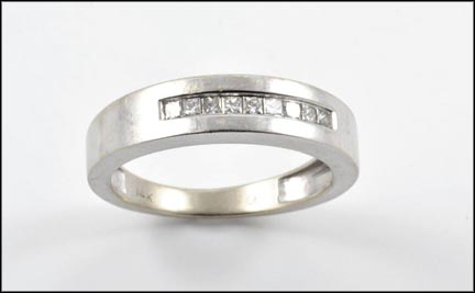 Channel Set Band in 14K White Gold