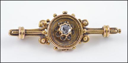 1860-70's Victorian Brooch in Yellow Gold