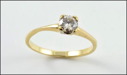 Solitaire Ring in Yellow Gold