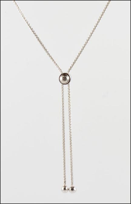 Adjustable Lariat in 14K White Gold