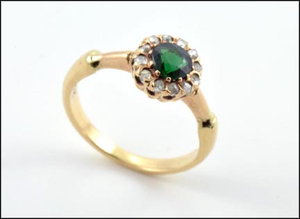 Chrome Diopside Ring in 14K Yellow Gold