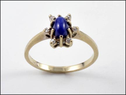 Linde' Star Sapphire Ring in 14K White Gold