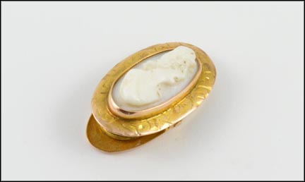 Cameo Clip in 10K Yellow Gold
