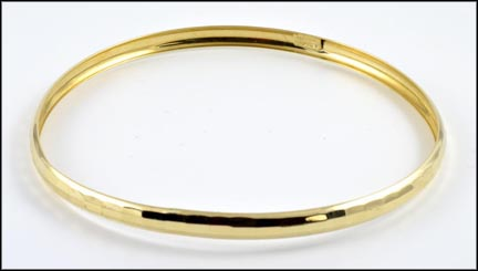 Textured Bangle in 10K Yellow Gold