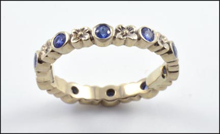 Sapphire Eternity Band in 18K Yellow Gold LARGE