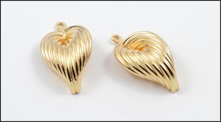 Gold Leaf Earring Enhancers in 14K Yellow Gold
