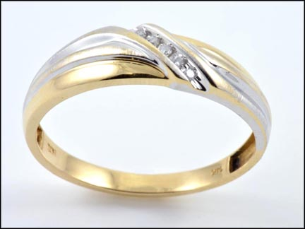 Men's Band in 14K Yellow and White Gold