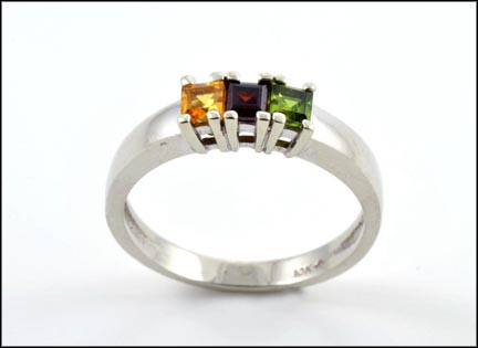 Garnet, Peridot and Topaz Ring in 10K White Gold_LARGE