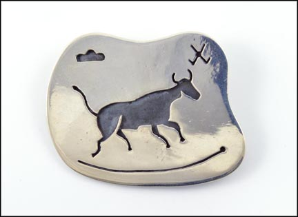 Mexico Animal Brooch in Sterling Silver LARGE