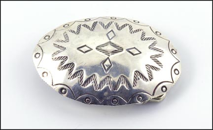 Mexican Belt Buckle in Sterling Silver LARGE