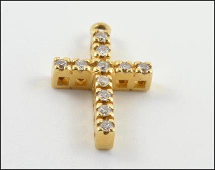 Cross Pendant in Yellow Gold